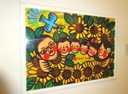 家族を表現する笑顔のアートを飾る (横浜市、Iさん)